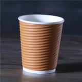 Prix bon marché Mur d'ondulation du papier jetable de tasse de café