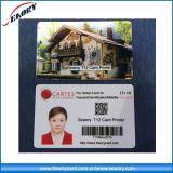 Preiswerte Preis-Doppelt-Seite Belüftung-Plastik-Identifikation-Karten-Druck-Maschine