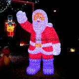 LED de altura de 2 m Santa Motif Decoração de iluminação
