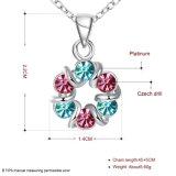 多彩なチェコのドリルの女性のネックレスの女性の方法宝石類