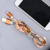 Cuir colorée du câble de chargement micro USB pour Samsung iPhone 8