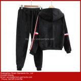 Veludo preto de Treino Sports Suit Sportswear para aquecer (T283)