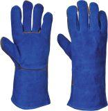 Croûte de cuir de vache long gants de soudure pour le travail