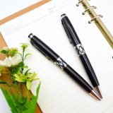 Высокое качество элегантной металлической оболочки шариковой ручки с индивидуального логотипа.