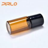 Glasrolle der bernsteinfarbigen Farben-3ml auf Flasche für wesentliches Öl-Serum-Duftstoff-Beispielverpackung