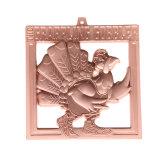Kundenspezifische Bronzefertigstellungs-laufende Sport-Medaillen-Aufhängung des Metall30km Mistrzostwa Polski