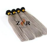 バージンの毛の安くインドの人間の毛髪の膚触りがよくまっすぐな織り方のOmbreインドのまっすぐなカラー
