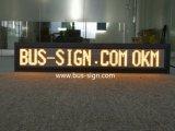 Panneau électrique d'intérieur programmable de signe de DEL pour le bus