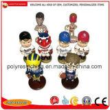 カスタマイズされたPolyresin表の装飾は昇進のギフトを遊ばす樹脂のバスケットボールのフットボールのヘッドについてへまをする