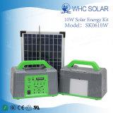 linterna solar de los kits caseros solares de la iluminación 10W con la función de radio