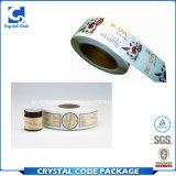 Étiquette privée de collant de produits de beauté imperméables à l'eau