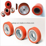 Rolo resistente de alta temperatura da borracha de silicone da roda do gel de silicone