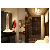 Mattonelle di mosaico quadrate di fusione decorative nere di vetro macchiato per il pavimento