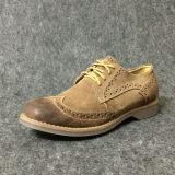 Мода обычных мужчин обувь Burnished кожаную обувь