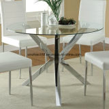 円形の和らげるガラスコーヒーテーブル8mmガラス表