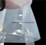 Saco de plástico lateral do reforço da parte inferior do reforço do LDPE com gancho