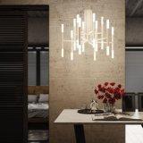 Lustre simple moderne de lampe de tube de personnalité pour l'éclairage pendant de restaurant