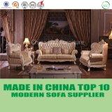 Neues klassisches Wohnzimmer-Gewebe-europäisches ledernes Chesterfield-Sofa