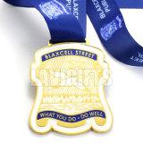 Medalha enchida de venda quente do esporte da bandeira de país do esmalte cor macia feita sob encomenda