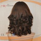 Parrucca delle donne della parte superiore della pelle dei capelli umani (PPG-l-01803)