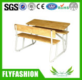 Double bureau combiné détachable en bois d'école avec la présidence Sf-49d