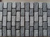Свет вымощая камня высокого качества - серый камень кубика гранита 10X10