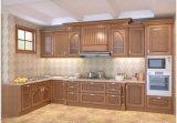 Cabinas de cocina de madera modulares de la manera con mármol artificial