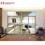 Veranda dos pistas de puerta corrediza de aluminio con cristal templado