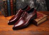 Ботинки офиса Brown ботинок платья людей Brogue замши кожаный
