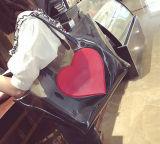 Sac à main rouge de sac d'emballage de PVC de mode de coeur (BDMC187)