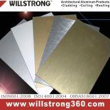 Внешняя алюминиевая составная доска стены в золотистой текстуре