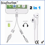 Utilisation 2 dans l'adaptateur de câble de foudre de remplissage/musique de 1 pour l'iPhone 7/8/X