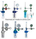 Regolatore medico dell'ossigeno con l'umidificatore