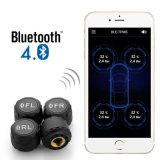 APP MPT Blue tooth montrant les données de température et de pression sur téléphone mobile