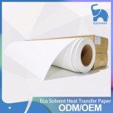 Secagem rápida 45g, 60g, 80g, 90, 100 gsm, rolo de papel por sublimação de tinta