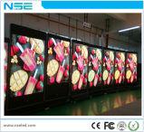 Affichage LED Smart WiFi de la publicité vidéo de l'écran avec des roues