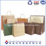 Дружественность к окружающей среде OEM-коричневый крафт-бумаги или сумку с эмблемой и