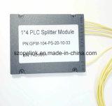 PLC de fibra óptica divisor de 1X4 Caja de plástico para la Terminal de verificación y aplicación de red inalámbrica