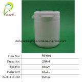 220mlシリンダービタミンのHDPEのプラスチックびんの包装