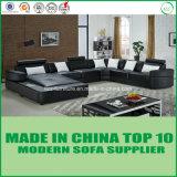 Base de sofá moderna determinada del cuero de la dimensión de una variable de los muebles U de América