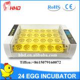 Incubateur automatique Yz-24A d'oeufs de poulet d'oeufs populaires de Hhd 24