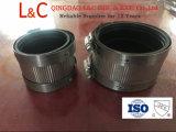 Accoppiamento di gomma flessibile dell'acciaio inossidabile per i tubi di Hubless