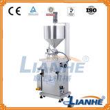 Máquina de enchimento pneumática do pistão para a loção/creme/líquido do corpo