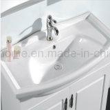 白いカラー陶磁器の洗面器の合板のラッカー現代浴室の虚栄心(ACS1-L35)