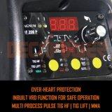 Função Multi controlado por microprocessador Hf/ Levantar/Pulse/MMA máquina de solda TIG inversor