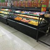 Neue Entwurfs-Vertikale geöffneter vorderer Multi-Plattform Supermarkt-Kühlraum für Gemüse und Frucht