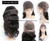 Sin enredos cabello humano pleno encaje peluca