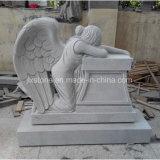 Het Huilen van de Steen van het graniet het Monument van het Standbeeld van de Engel