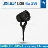 Hochwertiges des LED-helles im Freien Rasen-9W Garten-Licht Punkt-des Licht-LED mit Pin