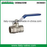 Европейское Качество латунные поддельных отверстие в полном объеме шаровой клапан (AV10054)
